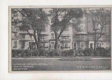 Glenside Private Hotel Grand Parade Brighton Sussex 1922 Postcard 555b
