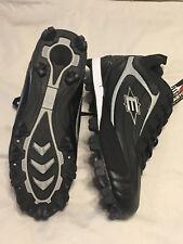 Easton Mens Redline  Mid Baseball & Softball Cleats Size 9.5 Black Silver