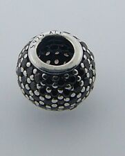 791051BCZ PANDORA STERLING SILVER BROWN PAVE LIGHTS BEAD NEW IN BOX RETIRED RARE