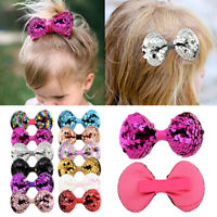 1/10Pcs Bowknot DIY Baby Girls Handcraft Hair Clips Rainbow Hairpins Supply Lot