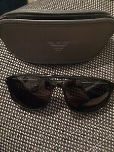 Emporio Armani EA4013 Sunglasses Black Men's Excellent Condition With Case