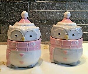 Weihnachten Keramik Dose Bonboniere Keksdose Eule mit Deckel 551201-000-994