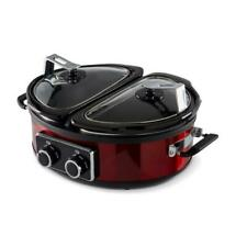 Tower T16023 Dual 2 x 2.5L Slow Cooker Red