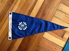 "Vintage U.S. Coast Guard Auxiliary Nylon Pennant Flag Sewn 1960's 24"" Military"