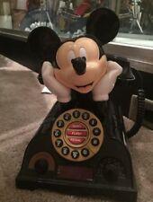 Mickey Mouse Telephone Disney Vintage Push Button House Phone Radio Alarm Clock