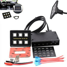 6Gang LED Touch Screen Switch Control Panel For Car SUV Pickup Boat Truck 12/24V