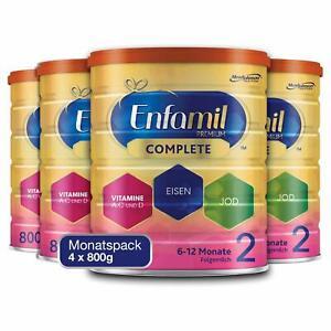 Enfamil Premium Complete 2 Folgemilch Pulver Säuglinge von 6-12 Monaten 4 x 800g