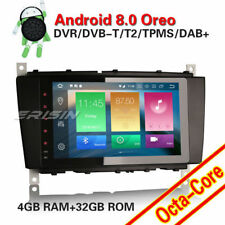 "AUTORADIO DVD 8"" ANDROID 8.0 OctaCore 4GB-32GB Mercedes Classe C CLC CLK W203 JJ"