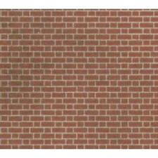 Metcalfe PN100 N Scale Red Brick Sheets 8 X A4 Size