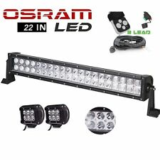 22Inch LED Work Light Bar with 4inch Pods for JK Ford SUV UTE Offroad ATV UTV