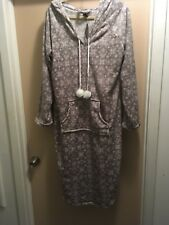XL Womens Plush Sleep Hoodie Dress Pullover Robe NOUVEAU Kangaroo Pockets SOFT