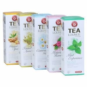 43,54€/kg Teekanne Tealounge Kapseln- Kräutertee Sortiment 5 Sorten (40 Kapseln)