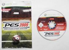 jeu PES 2009 sur xbox 360 en francais game foot sport soccer spiel juego loose