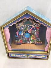 Circus Vintage Clown Around Music Box With Drawer