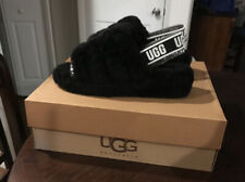 UGG Australia Fluff Yeah Slide Sandals for Women, Size US 11 - Black NEW in Box