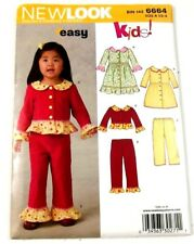 Simplicity New Look 6664 Sewing Pattern Dress Pants Top Size A 6 Months 4 Years