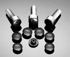 10 Abdeckkappen schwarz M6 Kappen Cover Innensechskant Schrauben 6mm NEU