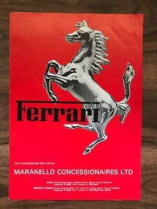 Ferrari Range GB Car Brochure 1988 BB 512i, 400 GTI, GTB, GTS, Mondial 8 English