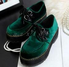 Ladies Women Muffins Casual Students Platform Lace Up Creepers Round Toe Shoes