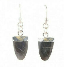 Barse Brand Sterling Silver Labradorite Drop Earrings Gray