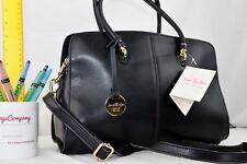 BLACK NEW GENUINE LEATHER Jane Shilton Designer Handbag X-body Shoulderbag  iPad