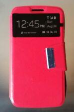 Funda modelo libro tapa imán roja para LG G2 mini lote de 10 unidades
