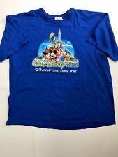 Walt Disney World Blue Where Dreams Come True T Shirt Disney Characters 2Xl