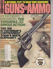 Vintage Magazine GUNS & AMMO April 1974 M 16 Voere K 14 Rifle Ruger Marlin /f7
