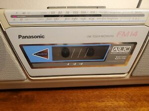 Vintage Panasonic RX-FM14 Radio Recorder Boombox. 🚨 Cassette needs Maintenance