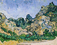 Alpilles Vincent Van Gogh Abstract Painting Print Canvas Giclee Wall Decor Small