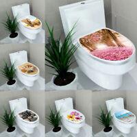 Klebender Badezimmer Toilettensitzdeckel Aufkleber Aufkleber Wandbild für
