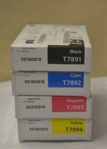 Epson Black Cyan Magenta Yellow T7891 T7892 T7893 T7894 XXl WF 5110 5190 5620 90