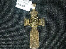 Bronze Cross with swirl pendant  New RRP $30