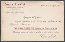 PIACENZA CITTÀ 46 TESSUTI - COLTIVAZIONI PETROLIFERE Cartolina 1904