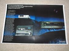 Technics Digital Audio Ad, 1983, SL-P10 CD, SV-100 DAP, 2 pages, Beautiful!