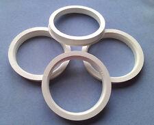(1061) 4 Stück  Zentrierringe 68,0 / 57,1 mm schwarz für Alufelgen