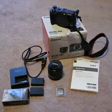 Canon EOS M6 bundle w/ EF-M 15-45mm lens + 2 batteries + USB charger