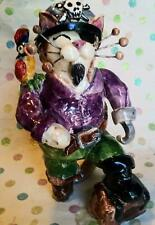 Captain Crossbones WhimsiClay Pirate Cat, Reimagined.  One-of-a-kind Original!!