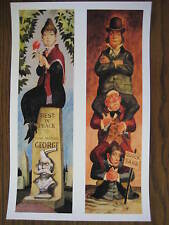 Vintage Disney ( Haunted Mansion stretching Room ) 3&4 Collector's Print - B2G1F
