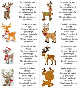 40 x Christmas Reindeer food labels/stickers/present/sweets/gift bags
