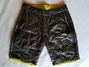 Adidas Terrex Agravic Primaloft Short Überhose anthrazit-gelb Gr.48 glänzend NEU