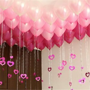 100pcs Balloon Rain Silk Sequin Love Pendant for Wedding Paety Banquet Decoratio
