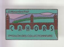 RARE PINS PIN'S .. ART TIMBRE STAMP PHILATELIE SALON 91 COLLECTION CAHORS 46 ~DW