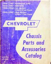 1938-1967 CHEVROLET CHASSIS PARTS AND ACCESSORIES PASSENGER CORVETTE TRUCKS