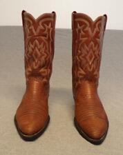 "Vintage Tony Lama Western Cowboy Exotic Lizard Skin Boots Men's size 9.5D ""Usa"""