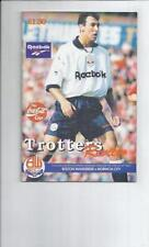 League Cup Teams A-B Bolton Wanderers Football Programmes