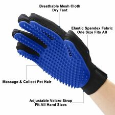 Pet Dog Cat Massage Grooming Silicone Glove Blue loose hair