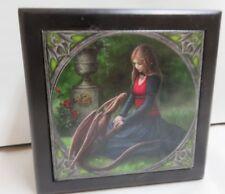 """Anne Stokes Fantasy Art Tile Lined Wooden Box """"Secret Garden"""" by ACK #30056"""
