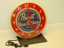 Vintage Pabst Blue Ribbon Beer Clock, Wall, Electric, Milwaukee WIS