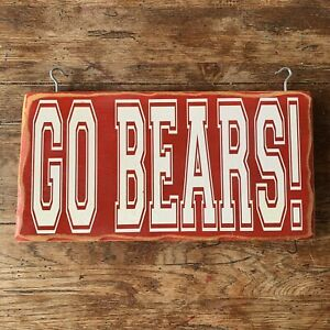 Chicago Bears Go Bears Wood Sign Man Cave Sports Room Football Fathers Day Gift